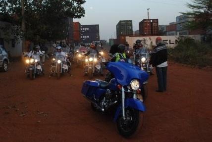 depart motos Bamako raid harley sahel mali geotours